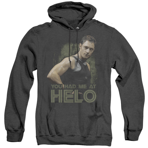 Image for Battlestar Galactica Heather Hoodie - You Had Me at Helo