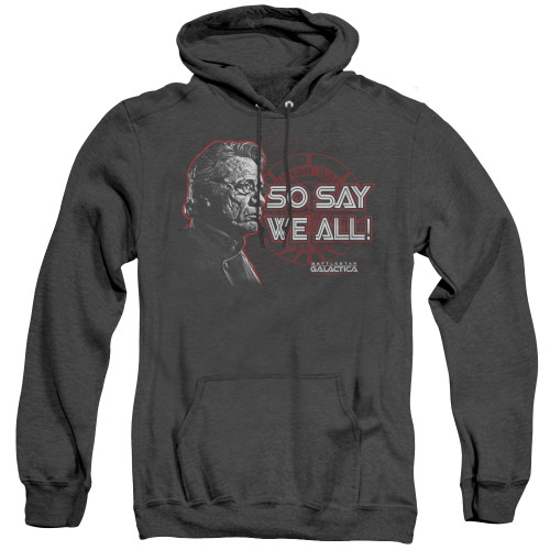 Image for Battlestar Galactica Heather Hoodie - So Say We All
