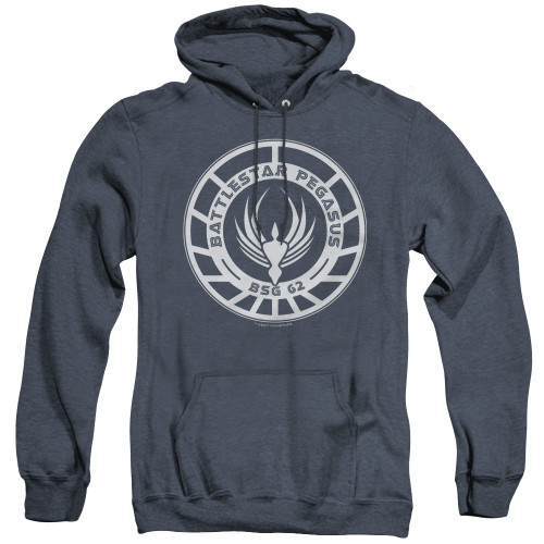 Image for Battlestar Galactica Heather Hoodie - Pegasus Badge