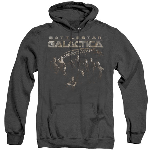 Image for Battlestar Galactica Heather Hoodie - Battle Cast