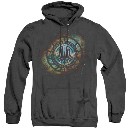Image for Battlestar Galactica Heather Hoodie - Emblem Knock-Out