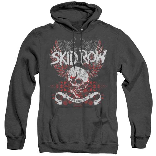 Image for Skid Row Heather Hoodie - Winged Skull