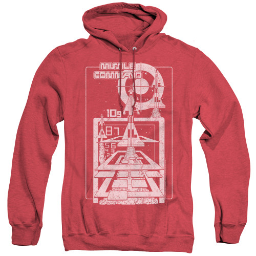 Image for Atari Heather Hoodie - Missile Command Lift Off