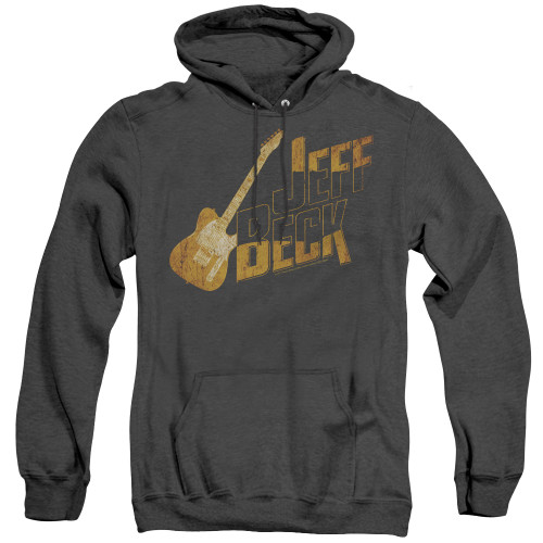 Image for Jeff Beck Heather Hoodie - That Yellow Guitar
