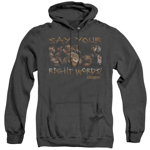 Image for Labyrinth Heather Hoodie - Say Your Right Words