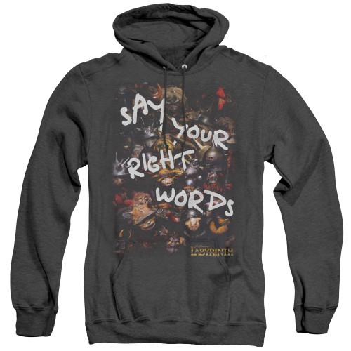 Image for Labyrinth Heather Hoodie - Right Words