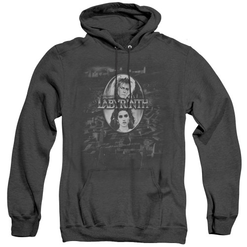 Image for Labyrinth Heather Hoodie - Maze