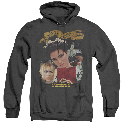 Image for Labyrinth Heather Hoodie - Dangers Untold