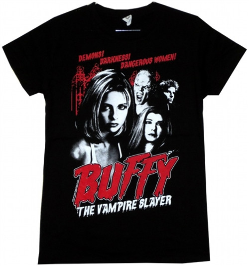 Image Closeup for Buffy the Vampire Slayer Cult Poster Girls Shirt