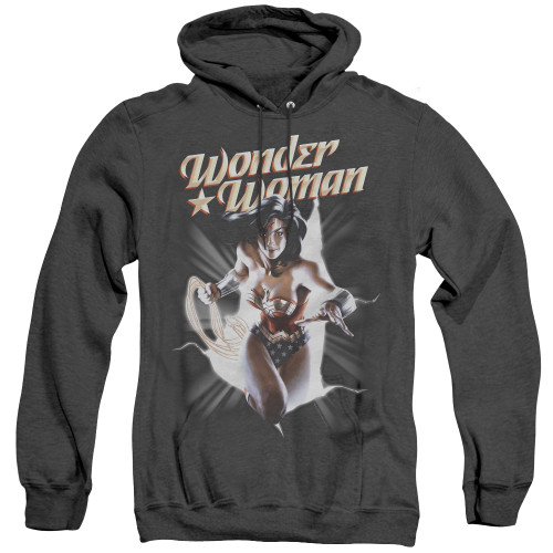Image for Wonder Woman Heather Hoodie - Break Out