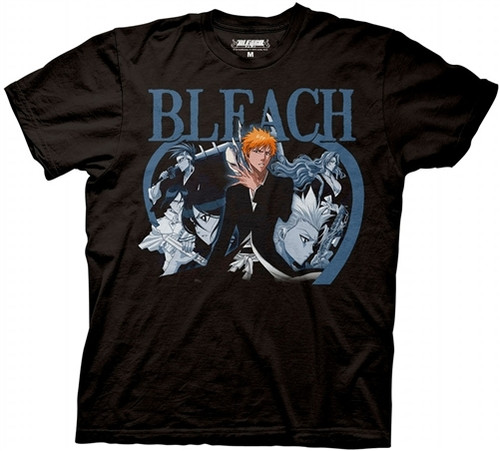 Image for Bleach Blue Duotone Group T-Shirt