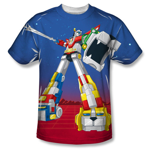 Image for Voltron Sublimated T-Shirt - Form Voltron 100% Polyester