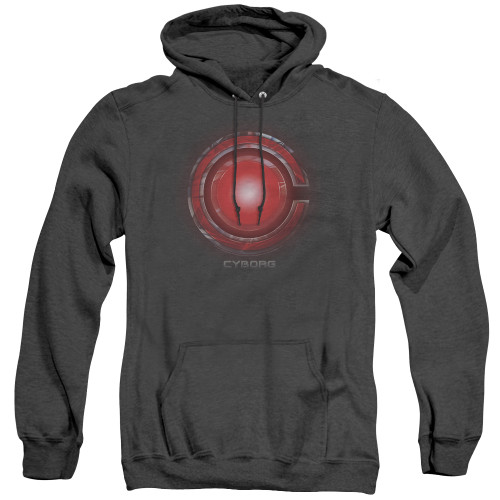 Image for Justice League Movie Heather Hoodie - Cyborg Logo