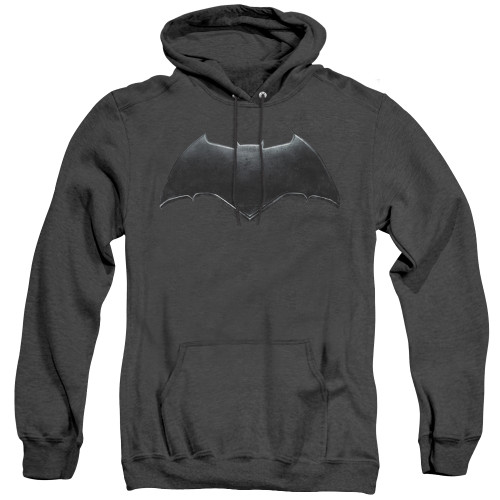 Image for Justice League Movie Heather Hoodie - Batman Logo