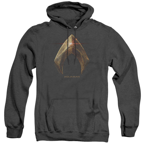 Image for Justice League Movie Heather Hoodie - Aquaman Logo
