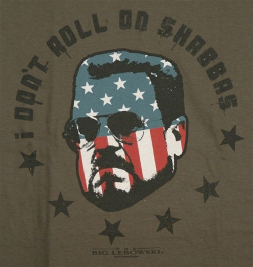 Image for Big Lebowski T-Shirt - I Don't Roll on Shabbas