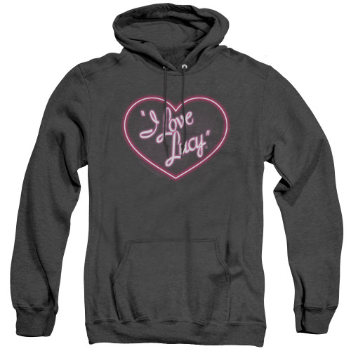 Image for I Love Lucy Heather Hoodie - Neon Logo