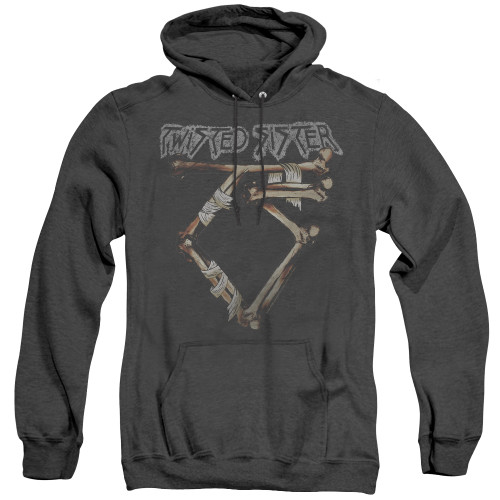 Image for Twisted Sister Heather Hoodie - Bone Logo
