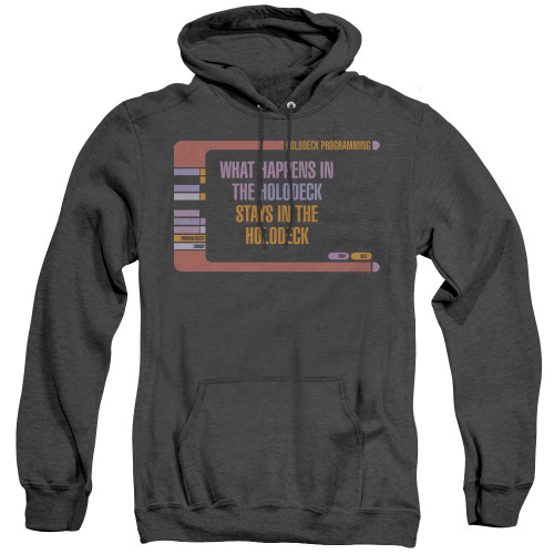Image for Star Trek The Next Generation Heather Hoodie - What Happens in the Holodeck Stays in the Holodeck