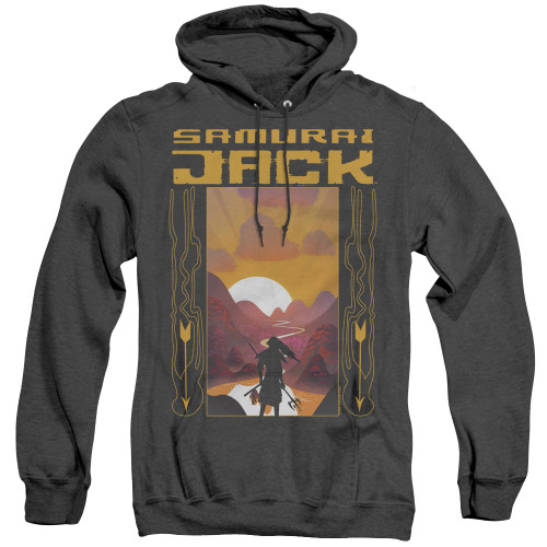 Image for Samurai Jack Heather Hoodie - Sunrise