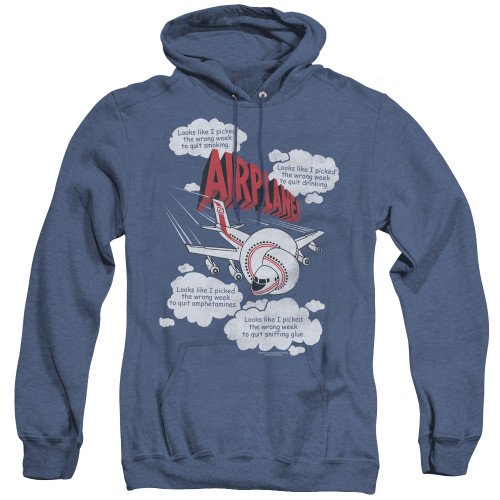 Image for Airplane Heather Hoodie - Looks Like I Picked the Wrong Week...