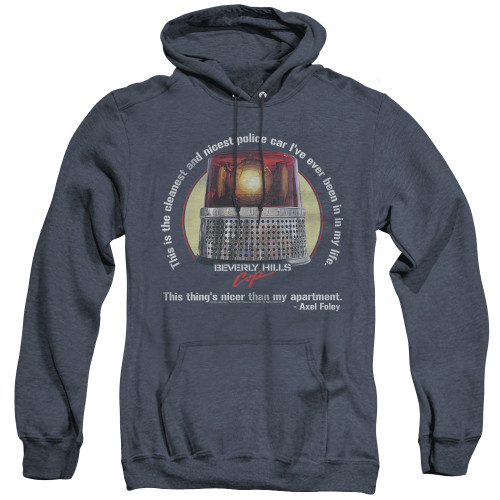 Image for Beverly Hills Cop Heather Hoodie - Nicest Police Car