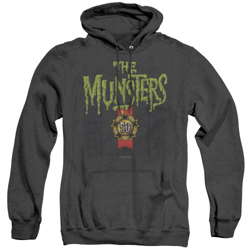 Image for The Munsters Heather Hoodie - 50 Year Logo