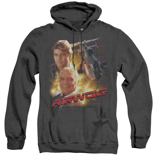 Image for Airwolf Heather Hoodie - Poster