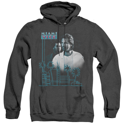 Image for Miami Vice Heather Hoodie - Looking Out
