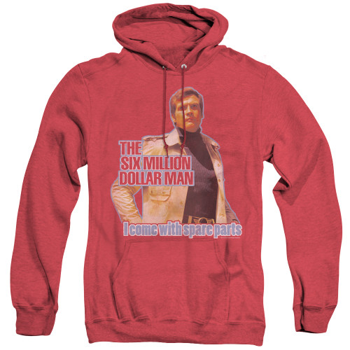 Image for The Six Million Dollar Man Heather Hoodie - Spare Parts