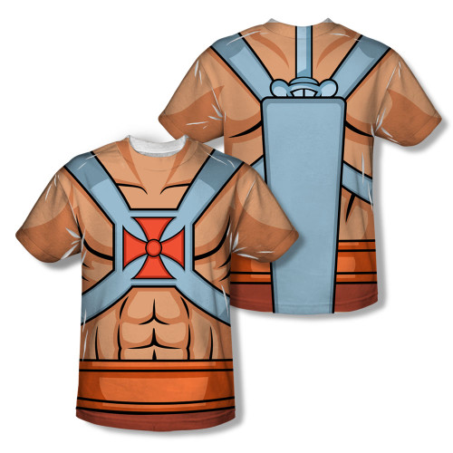 Image Closeup for Masters of the Universe Sublimated T-Shirt - He Man Costume