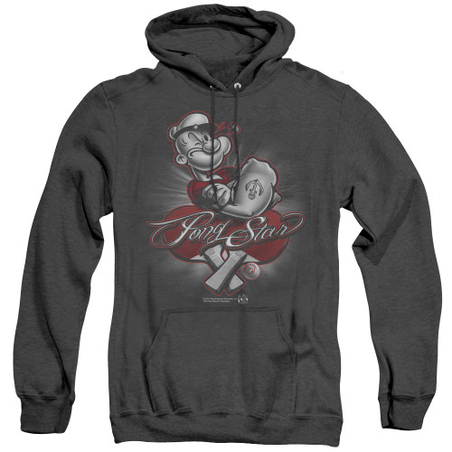 Image for Popeye the Sailor Heather Hoodie - Pong Star