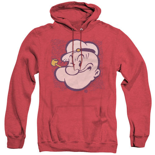 Image for Popeye the Sailor Heather Hoodie - Head