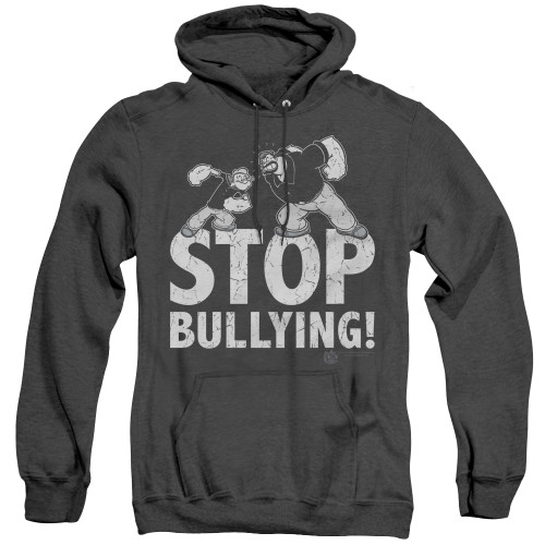 Image for Popeye the Sailor Heather Hoodie - Stopy Bullying