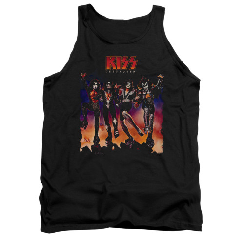 Image for Kiss Tank Top - Destroyer Cover
