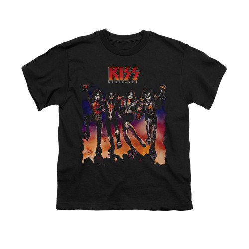 Image for Kiss Youth T-Shirt - Destroyer Cover