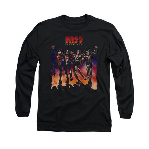 Image for Kiss Long Sleeve T-Shirt - Destroyer Cover