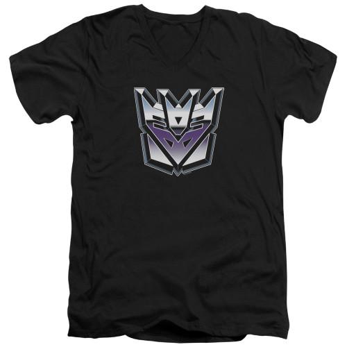 Image for Transformers T-Shirt - V Neck - Decepticon Airbrush Logo