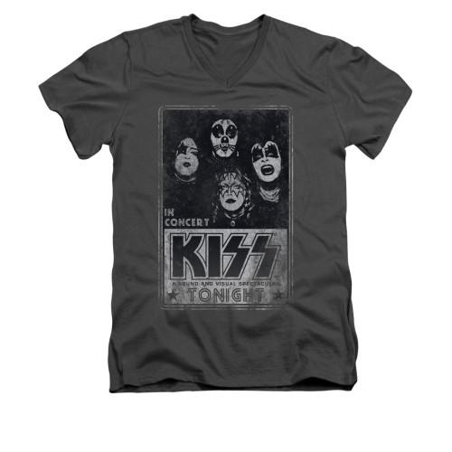 Image for Kiss V-Neck T-Shirt Live