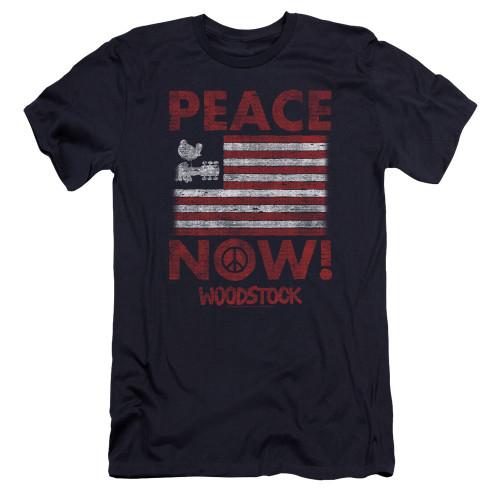 Image for Woodstock Premium Canvas Premium Shirt - Peace Now