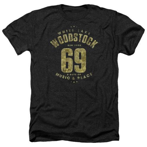 Image for Woodstock Heather T-Shirt - White Lake