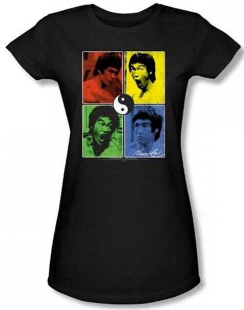 Image for Bruce Lee Girls T-Shirt - Color Block Girls T-Shirt