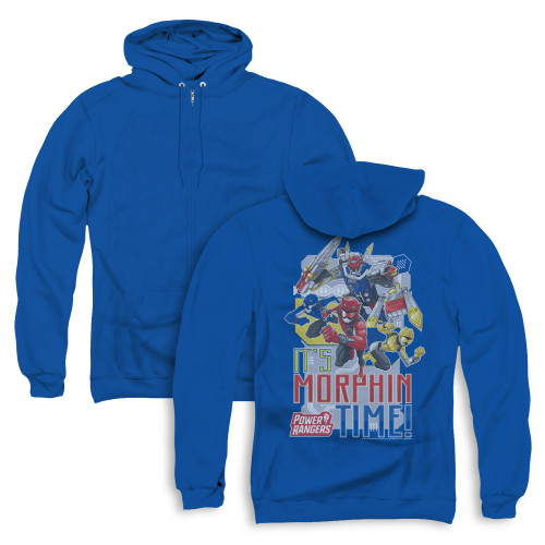 Image for Power Rangers Zip Up Back Print Hoodie - Beast Morphers Morphin Time