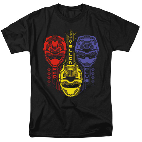 Image for Power Rangers T-Shirt - Beast Morphers Red Yellow Blue