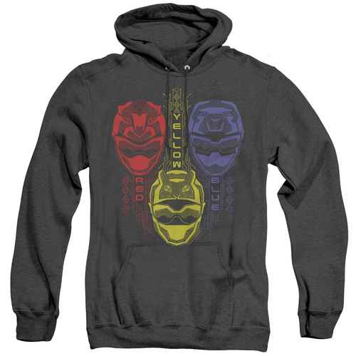 Image for Power Rangers Heather Hoodie - Beast Morphers Red Yellow Blue