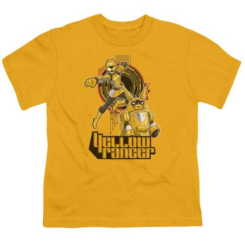 Image for Power Rangers Youth T-Shirt - Beast Morphers Yellow Ranger