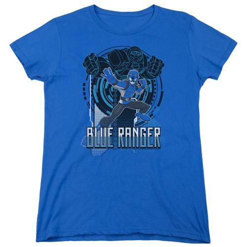 Image for Power Rangers Woman's T-Shirt - Beast Morphers Blue Ranger