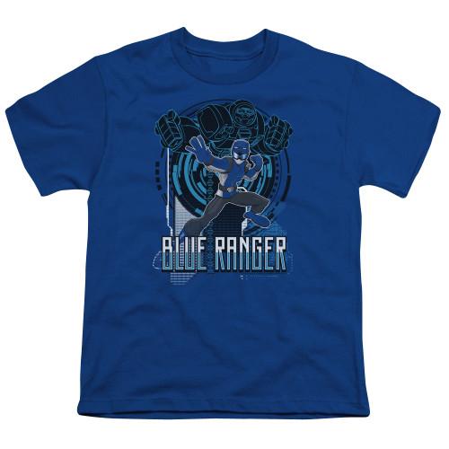 Image for Power Rangers Youth T-Shirt - Beast Morphers Blue Ranger