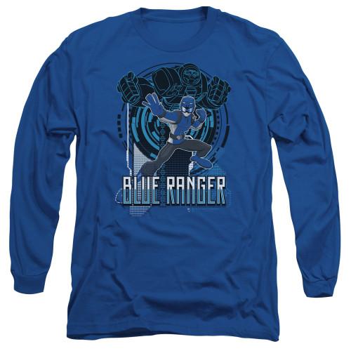 Image for Power Rangers Long Sleeve T-Shirt - Beast Morphers Blue Ranger