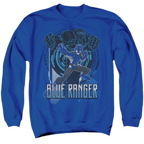 Image for Mighty Morphin Power Rangers Crewneck - Beast Morphers Blue Ranger